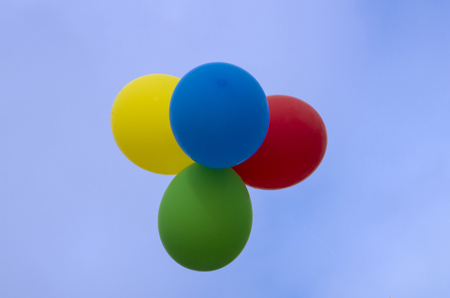 Ballons float in the sky during Mumfest in New Bern North Carolina