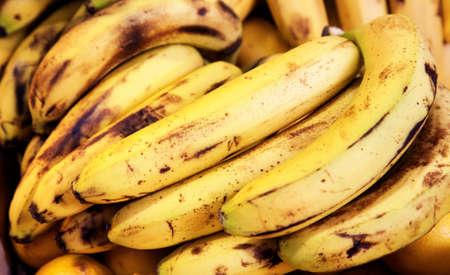 lifelike: bunch of organic bananas at market stall