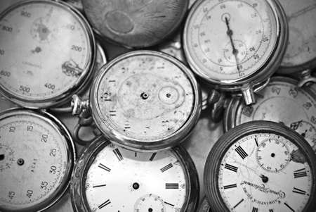 deteriorate: old pocket watches at market for sale