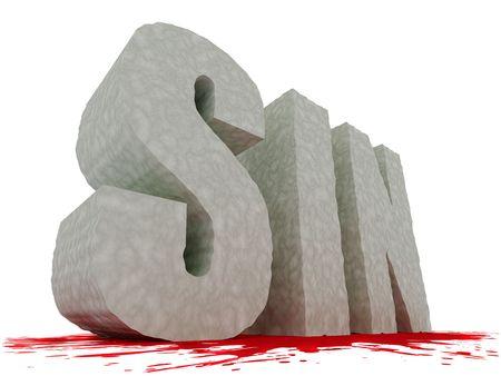 Rocky grandes 3D con textura SIN texto con un distinguirán de sangre roja debajo aislado sobre fondo blanco. De alta resolución.  Foto de archivo