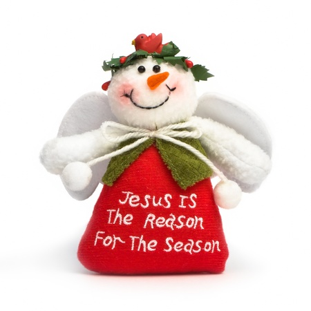 Jesus is the reason for the season, isolated on white