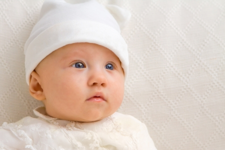 Sweet baby close up with hat Stock Photo - 17966979