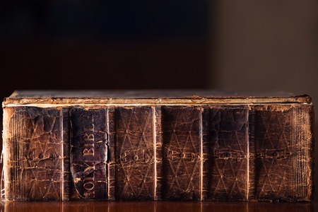 150 year old Holy Bible Stock Photo
