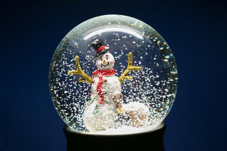 Beautiful Winter Snow Globe With Snowman Inside