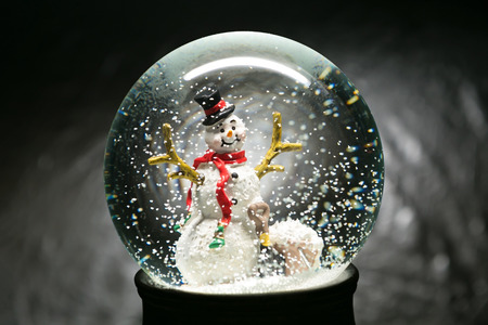 Beautiful Winter Snow Globe With Snowman Inside