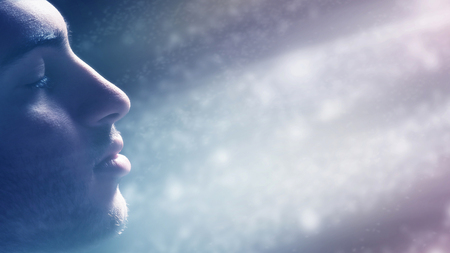 Man Immersed in the Light photo