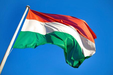 Hungarian Flag High Speed Capture 写真素材