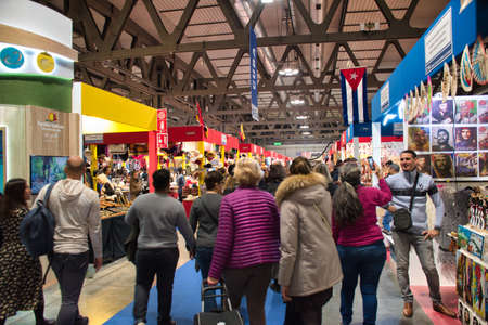 Milano, Italy 12.01.2019: Artigiano in Fiera, a unique fair to buy, see, touch hand-crafted creations, try the best international cuisine from all over the world. Unique, original, the highest quality