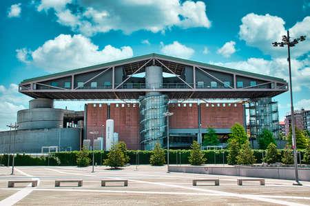 Milan, Italy 08.03.2020: The famous and futuristic exhibition complex of Portello, the Convention Center Fondazione Fiera Milano