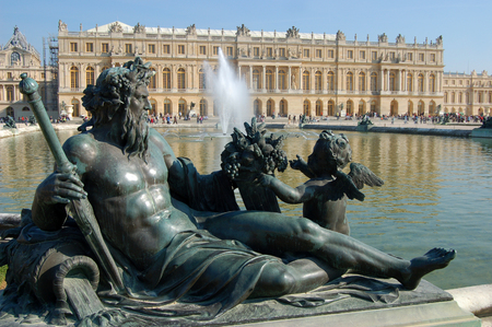 bacchus: The statue of Bacchus in front of the apartments of the Versailles castle