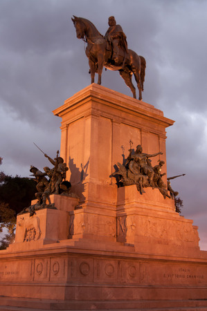 garibaldi: The equestrian statue of Giuseppe Garibaldi on the Gianicolo hill in Rome
