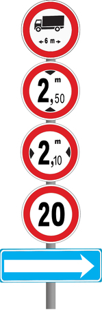 forewarning: Numerous constraints in road traffic announced by a series of signals