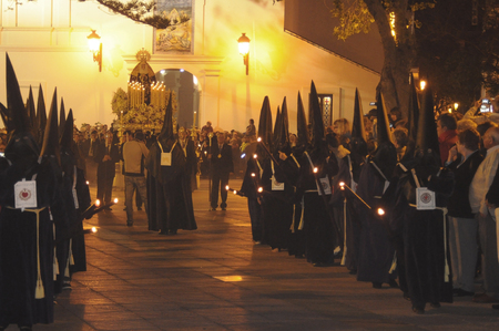 processions: The processions for Holy Week in Nerja (Spain), April 2010