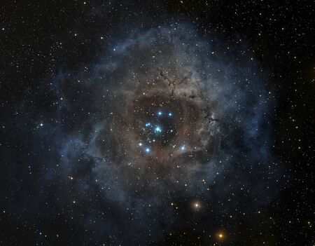 astroimage: Rosette nebula in the constellation of Unicorn. Image elements furnisched by NASA.