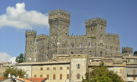 etrurian: The Castle of Torre Alfina town near Viterbo Italy Editorial