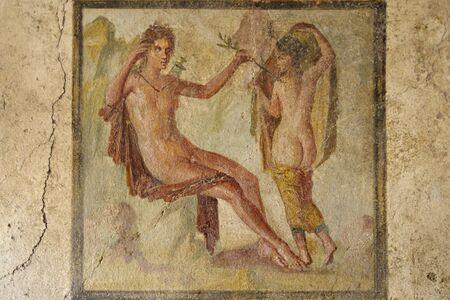 italian fresco: Fresco in ruined houses of Pompeii