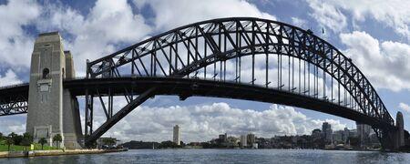 habour: Horizontal view of Sydney habour bridge