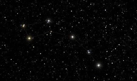 to minor: North Star in the constellation of Ursa Minor is the brightest star below
