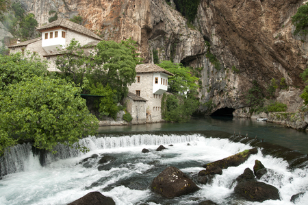 The source of Buna river is near the monastery of Blagaj (Mostar) built around 1520 during the Ottoman Empire