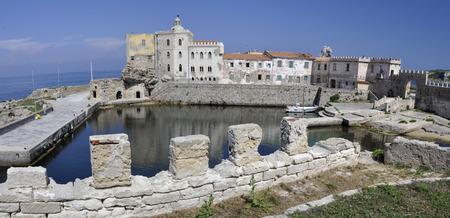 elba: The old harbor of Pianosa island in Tuscany, Italy