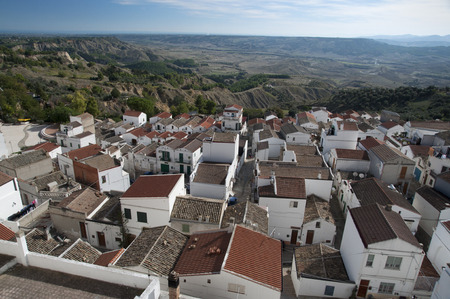 lucania: Roofs of withe houses at village of Pisticchi, near Matera in south Italy Stock Photo