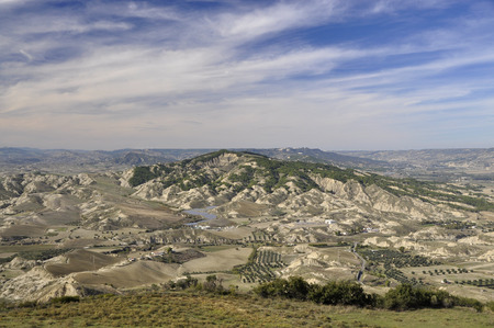 lucania: View of Balisicata landscape, from Pisticci in south of Italy Stock Photo