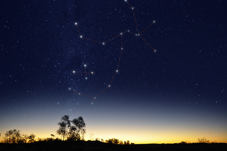 crux: Centaurus with Crux constellation in the Australian sky at sunset