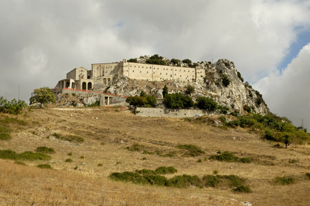 Caltabellotta, Sicily, Church and Monastery of St. Pilgrim, patron of the city Standard-Bild