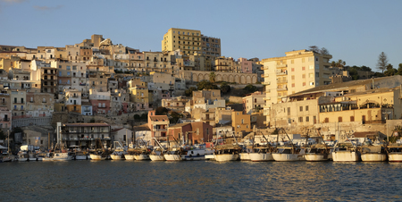 View of the Harbour of Sciacca, Sicily, Italy