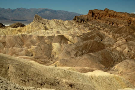 Zabrinskie Point, at Death Valley National Park, California, USA Banco de Imagens