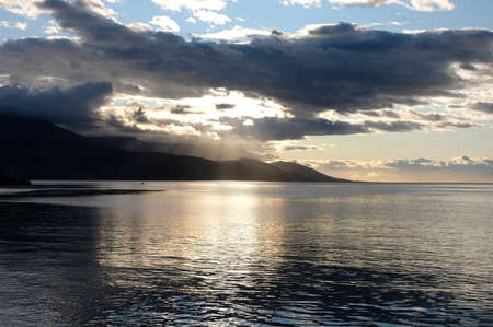 Hearly morning on Beagle channel at Usuhaia, Tierra del fuego, Argentina