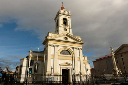 The Cathedral of the Sacred heart in the Plaza Munoz Gamero, Punta Arenas, Chile