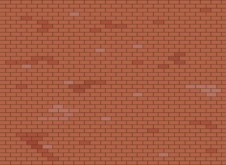 Struttura astratta del fondo del muro di mattoni marrone e rosso. Illustrazione vettoriale.