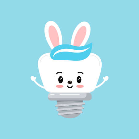 Easter tooth dental implant bow icon isolated.