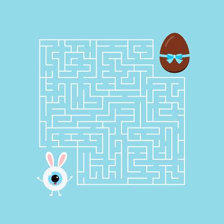 Easter bunny eyeball kids maze game labyrinth. 版權商用圖片 - 166892992