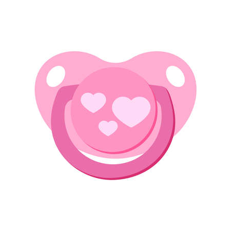 Pacifier baby dummy vector icon isolated on white background.