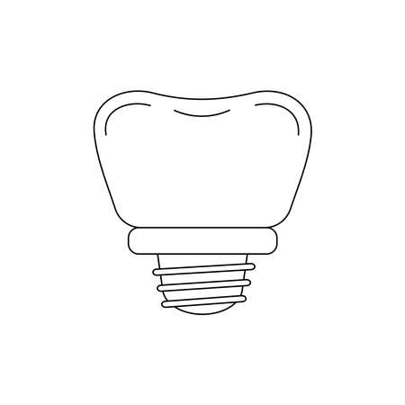 Tooth dental implant line icon isolated on white background. 向量圖像