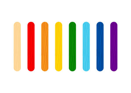 Color stick for game or ice cream set.