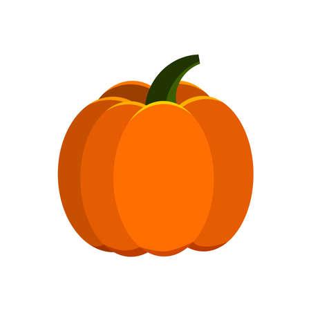 Orange pumpkin vector icon isolated on white background. 向量圖像