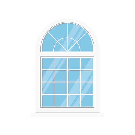 White pvc window frame icon isolated on white background.