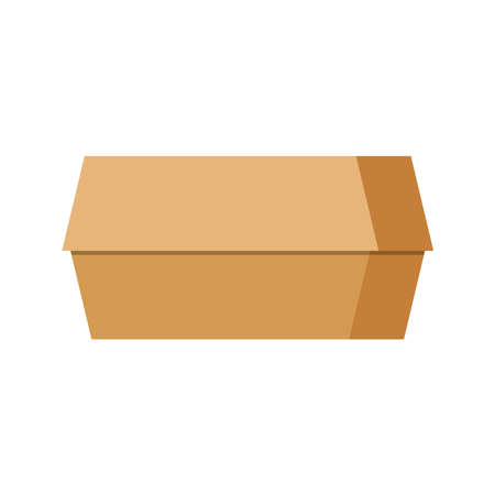 Burger paper takeaway box icon isolated on white background. 向量圖像
