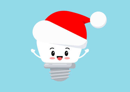 Christmas implant tooth in Santa Claus hat icon isolated on background. 向量圖像