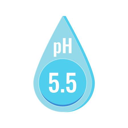 pH neutral skin balance vector icon isolated on white background. 向量圖像