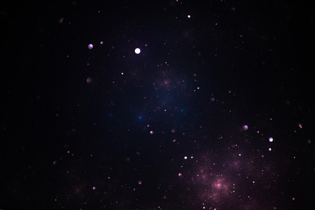 astral: Fractal color illustration of deep space with stars and nebula