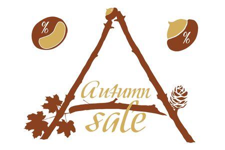 Autumn discounts Illustration