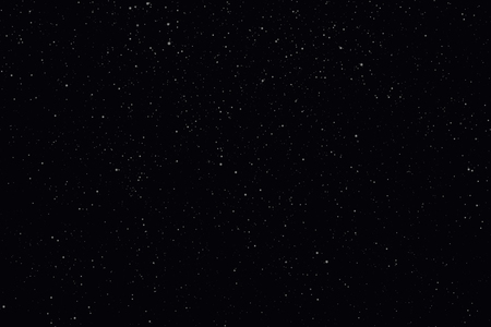 Night starry sky with stars and planets suitable as background.