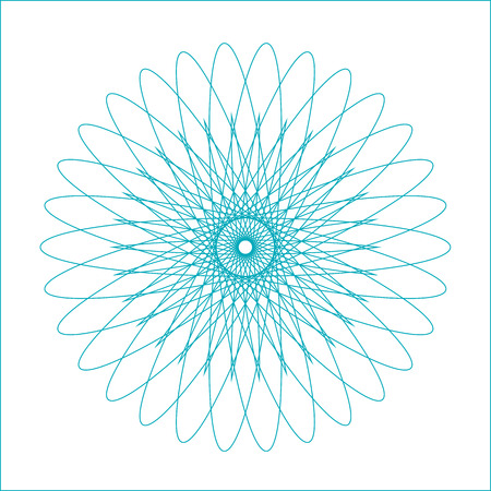 Spirograph geometric shape suitable for watermark, vector isolated on white background. Illustration