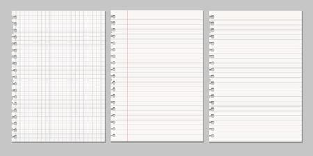 ensemble d & # 39 ; illustrations vectorielles réalistes d & # 39 ; une feuille déchirée de papier déchiré d & # 39 ; un album