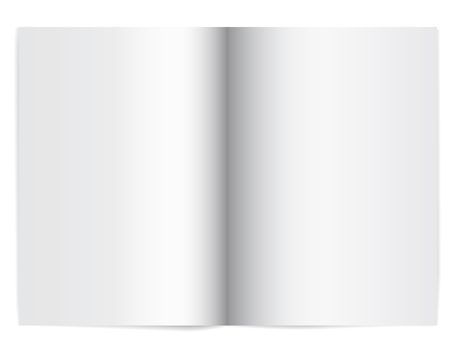 Vector illustration of an open school notebook with empty paper - with shadow and space for your text Banque d'images
