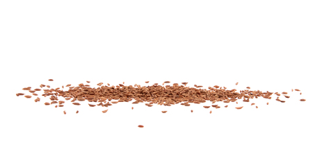 Closeup view of a pile of caraway. Spilled spices isolated on white background.